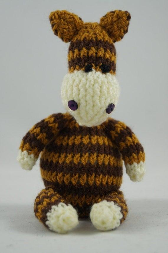Cuddly Amigurumi Giraffe : giraffe soft toy hand knitted handmade cute cuddly toy photo