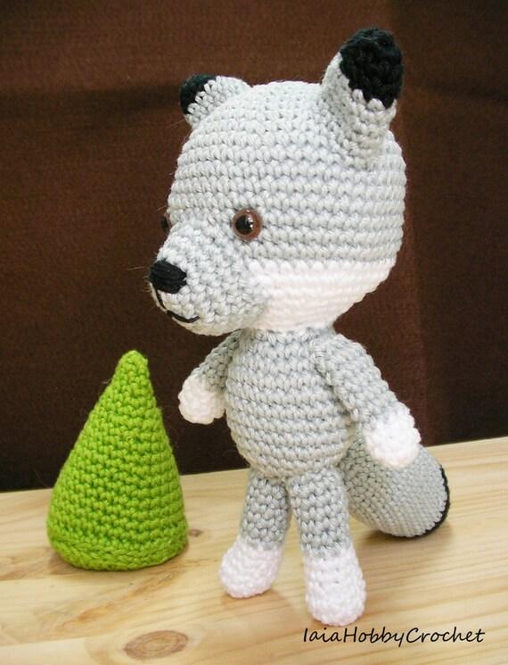 Crochet Amigurumi Wolf : Amigurumi wolf Crochet wolf Amigurumi forest animal