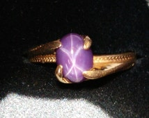 Popular Items For Star Sapphire Ring On Etsy