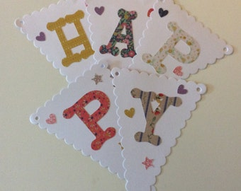 Ditsy floral Happy Birthday Bunting