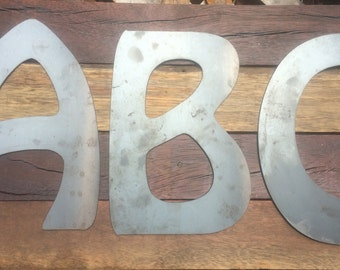 Metal Letters & Numbers (300mm tall)