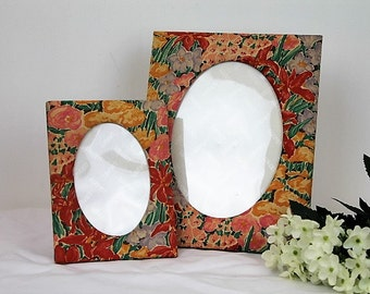 Liberty Picture Frames/Liberty Fabric/Liberty Fabric Frames/ REDUCED (1939C)