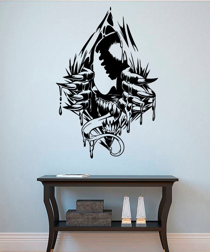 Venom Wall Decal Venom Vinyl Sticker Superhero Wall Stickers