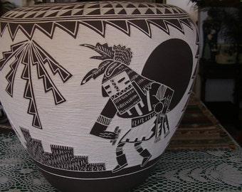 Acoma Pueblo Pot by M & R Romero