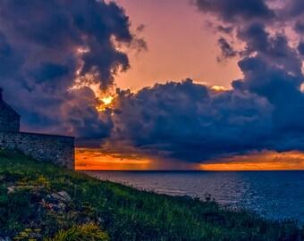 Fine art photography. St Ives Cornwall. Fine art photographic print. Wall Art. Cornish landscape photography. Sunset photography. Seascape.