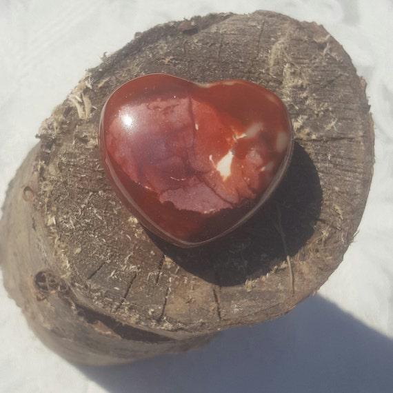 Red Jasper Heart Worry Stone