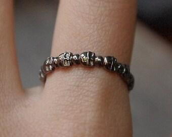 Cute Skull Rİng - Gothic Ring - Skull Ring - Dainty Skull Ring - Stacking Ring - 925K Sterling Silver Ring - Design Ring - valentines gifts