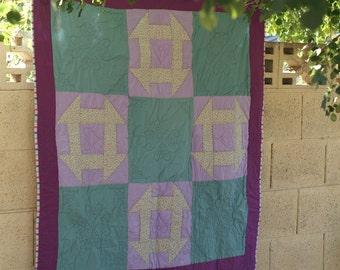 Handmade Quilt Unique Lap Quilt Hand quilted lap quilt one of a kind handmade quilt