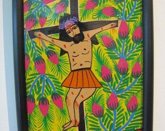 Mexican Folk Art - Crucifixion