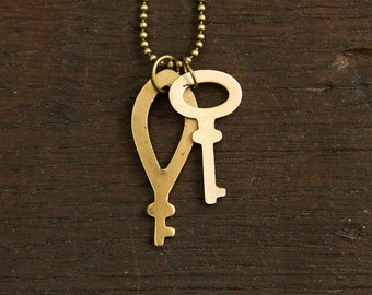 "Vintage Industrial Key Necklace ""Senta"""
