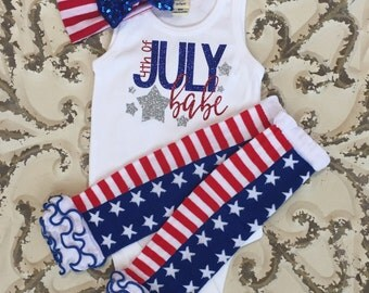 4th of July Babe Tank Onesie