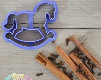 Rocking horse cookie cutter, horse cookie cutter, custom cookie cutter, birthday set cookie cutter, party cookie cutter, pony cookie cutter