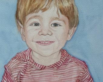 Custom Kid's Watercolor Portrait