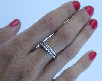 Sterling Silver Stacking Simple Band Rings