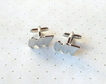 007 James Bond Cufflinks Cuff Links in Silver