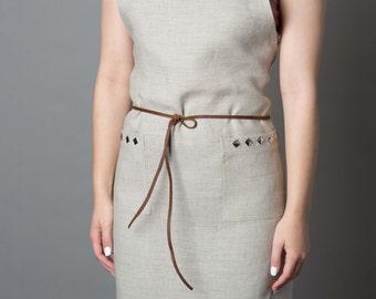 Cara (Delevingne) Apron - Women's Apron - Linen Apron - High Fashion Apron