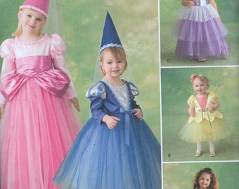 Simplicity 2569 Princess Halloween Costume Pattern Toddler