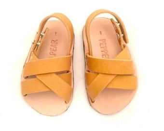 Leather Baby Sandal- Weave