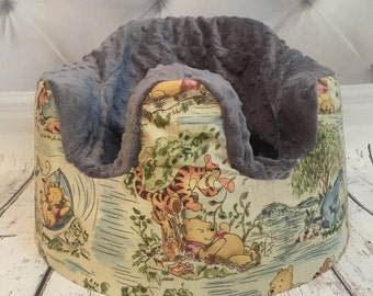 Winnie the Pooh Charcoal Bumbo Cover