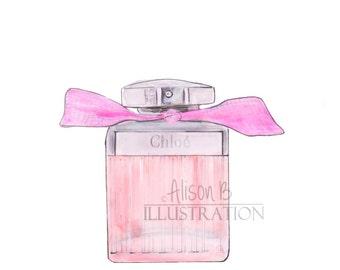 Chloe Perfume Art Print