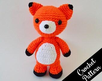 Franklin, the Friendly Fox Crochet Pattern - Crochet Fox - Amigurumi Animals - Instant PDF Download