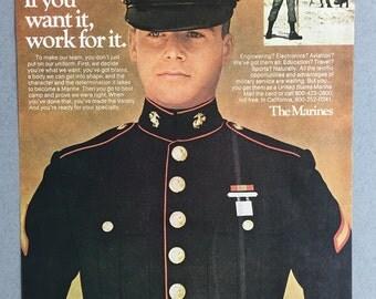 1976 US Marines Print Ad - USMC