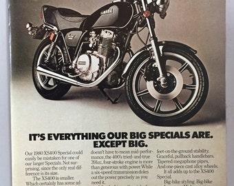 1980 Yamaha XS400 Special Print Ad - Motorcycle