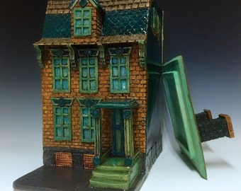 Pittsburg Row House // Ceramic Sculpture // Architectural Sculpture // Canister // House // Urban Decay // Urban Grunge // Row House