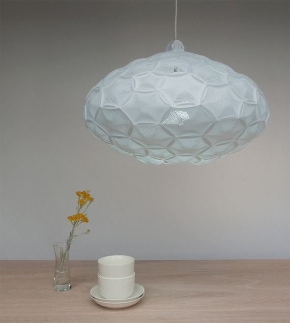 Large Pendant Light Airy Laminated Rice Paper Lamp