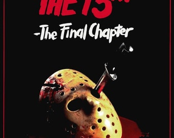 FRIDAY THE 13TH The Final Chapter Iv 4 Movie Poster Horror Jason Vorhees