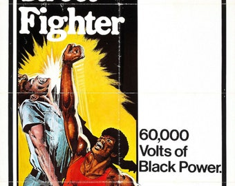 The BLACK STREET FIGHTER Movie Poster Rare Kung-Fu