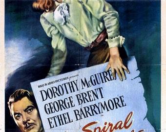 The Spiral Staircase Movie POSTER (1945) Thriller/Drama