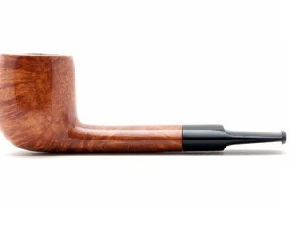 "Tobacco Smoking Pipe Briar. Metal filter 4,92"" NEW Unsmoked Smooth Aviator pipe, extra extra Briar, ebonite stem, excellent quality + GIFT"