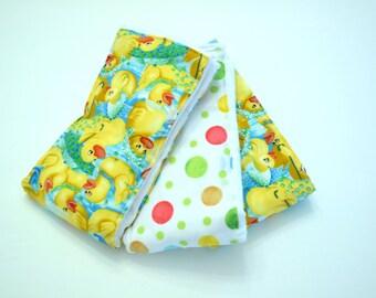 Ducks ~ Burp Cloths ~ Set of 3