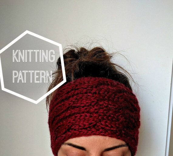 Cable Knit Ear Warmer Pattern : Chunky Cable Knit Ear Warmer Pattern Knitting Patterns for