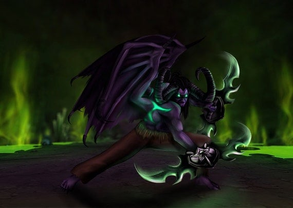 Illidan Stormrage Art Print