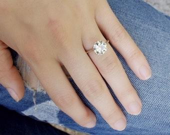 Marilyn EGL 2.80 ct Old European Cut Diamond Engagement Ring