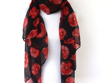 Floral Print Scarf, Women's Scarf Shawl, Gift for mother Women Fashion Accessories, Gifts For Her, Fashion Scarf, Boho Scarves, Spring Scarf