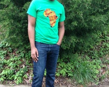"""Handmade """"Africa in Kente"""" T-shirt"""