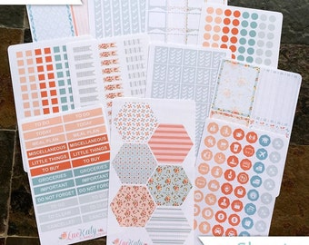 Nola Kit: WEEKLY MONTHLY Functional Decorative Matte Planner Stickers - A5 Bound Classic Flex - inkWELL Press Neopolitan LucKaty