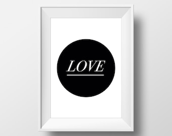 Love Print, Love Printable, Love Poster, Love Affiche, Minimalist Print, Minimalist Poster, Typography Print #0032