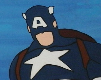 Captain America Inspired Canvas Panel