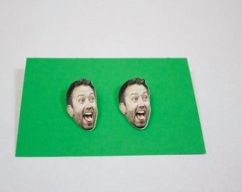 Tim McIlrath earrings - hypoallergenic