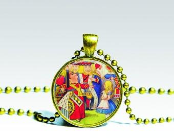 ALICE PENDANT, Alice in Wonderland Necklace, Fairy tale jewelry alice necklace, Alice in Wonderland Charm Wonderland Pendant Alice