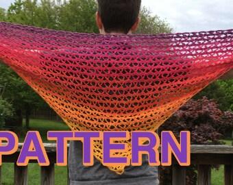 Hugs and Kisses Shawl Crochet Pattern - PDF download