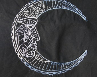 Man in the Moon  Embroidered Shirt