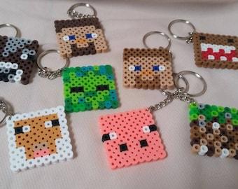 Perler Bead~Minecraft Keychains