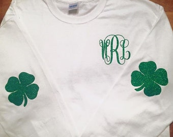 Monogrammed St. Patrick's Day long sleeve shirt