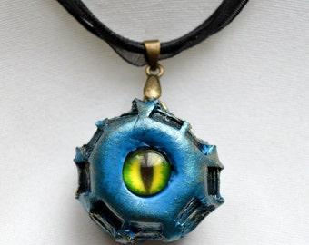 Blue Monster Eye Ball Necklace