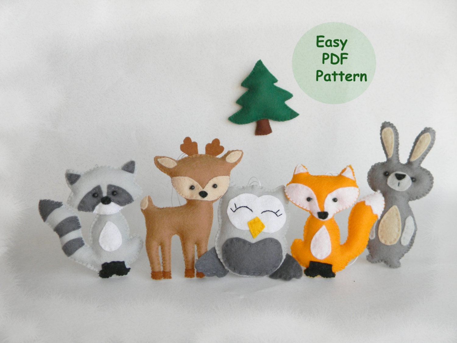 Sale Easy Woodland Animals Pattern Hand Sewing Pattern